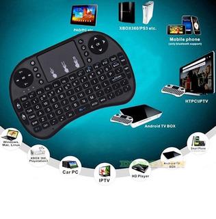 Mini Teclado Sem Fio 2.4ghz, Mouse Touchpad Controle Remoto