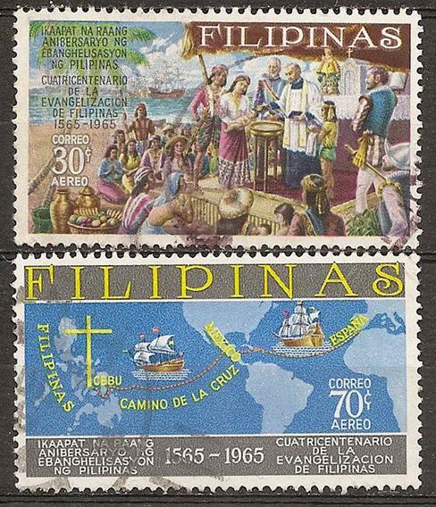 Filipinas Philippines Serie Aerea Evangelización 1565-1965