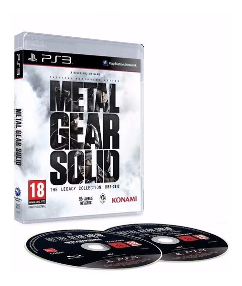 Metal Gear Solid The Legacy Collect. Ps3 Seminovo Garantia , (discos Zerados )