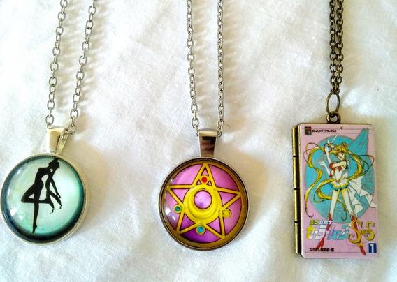3 Collares Con Dije Sailor Moon