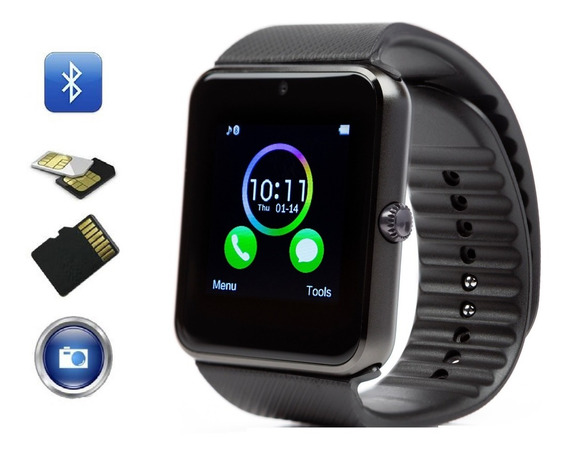 Smart Watchgt08 Reloj Inteligente Camara Sd Solo Bluetooth