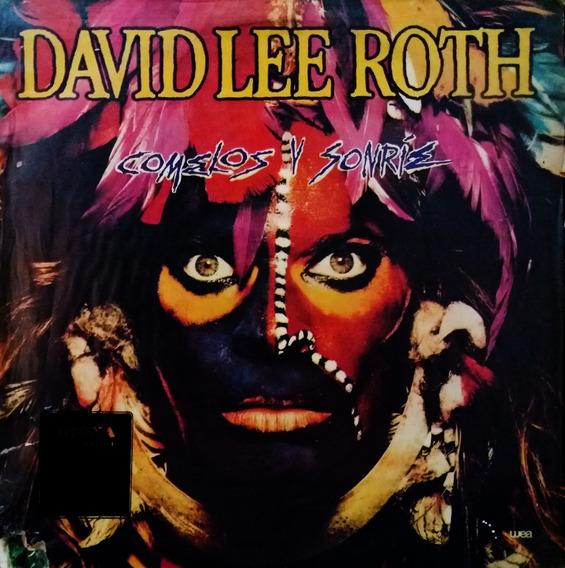 David Lee Roth - Comelos Y Sonríe + Insert Lp Rock@