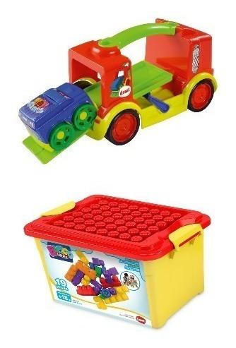 Brinquedo Educativo Carrinho +blocolândia Da Dismat