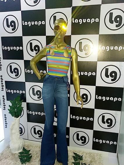 Calças Jeans Keep Guapa Flare