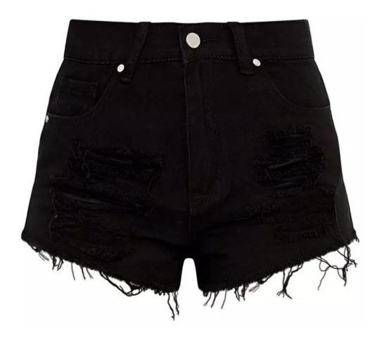 aa67108dad5e Jeans Mujer Tiro Alto Negro - Bermudas y Shorts en Mercado Libre ...