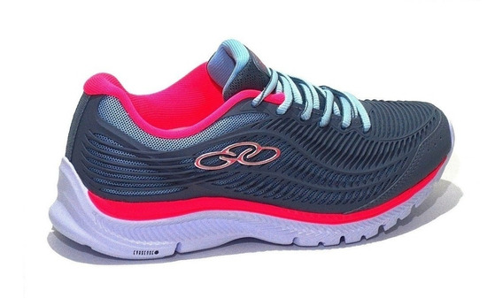 Zapatilla Olympikus Choice Kid 406 Gris/fucsia Dep