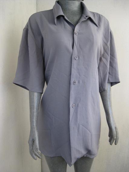 Blusa Estampada Color Gris Talla L Marca Pronti