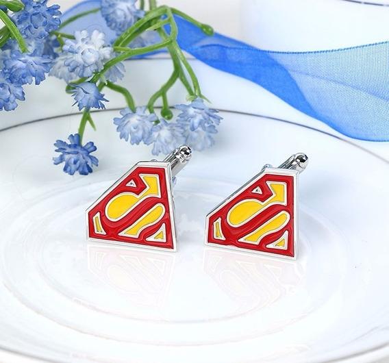Abotoadura Superman Super Homem Marvel