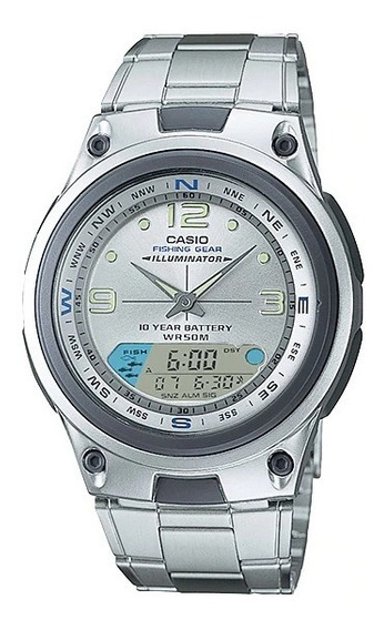 Relógio Casio Iluminator Anadigi Aw-82d-7avdf Original