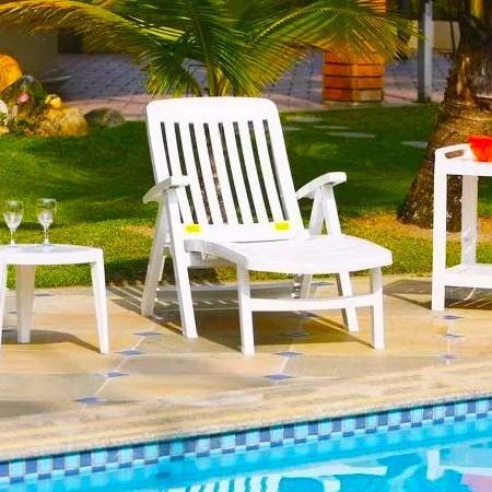 Cadeira Espreguiçadeira Praia Jardim Piscina Reclinável