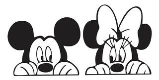 Adesivo Parede Mickey Minnie 50 Cm X 1 Metro