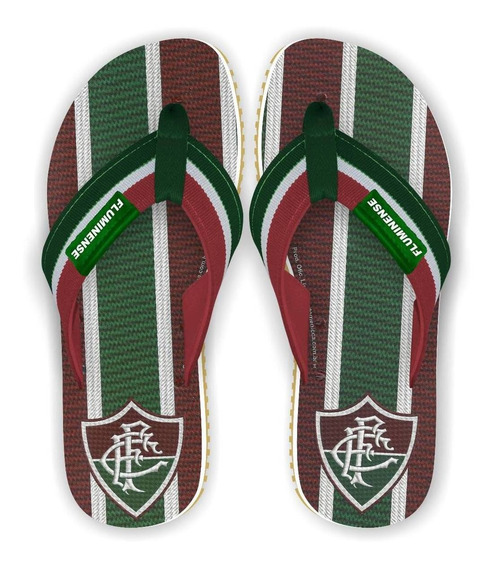 Novo Chinelo Fluminense Retrô Tricolor Surf Soft Oficial