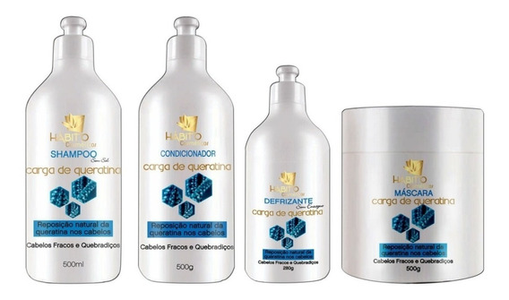 Kit Cauterização Tratamento Capilar Hidratação Profissional