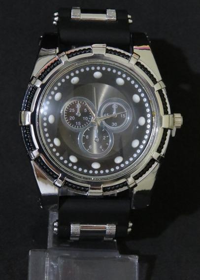 Relógio Bolt Zeus Venon Top Prata Preto Grande Barato C316