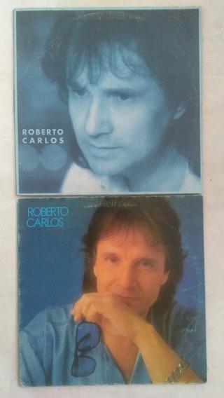 2 Lps Roberto Carlos Colúmbia Disco De Vinil Frete Grátis