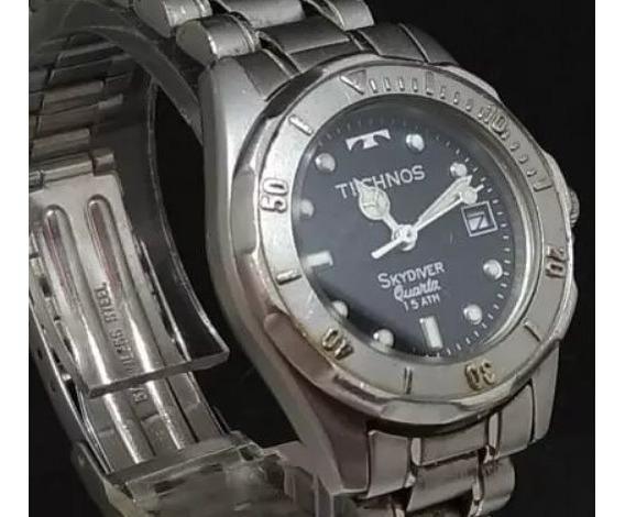 Relógio Technos T0298 Feminino Original Em Aço Webclock
