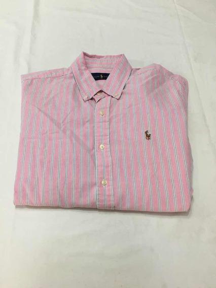 Camisa Polo Ralph Lauren Talla L Seminueva, No Hug, Bur, Lac