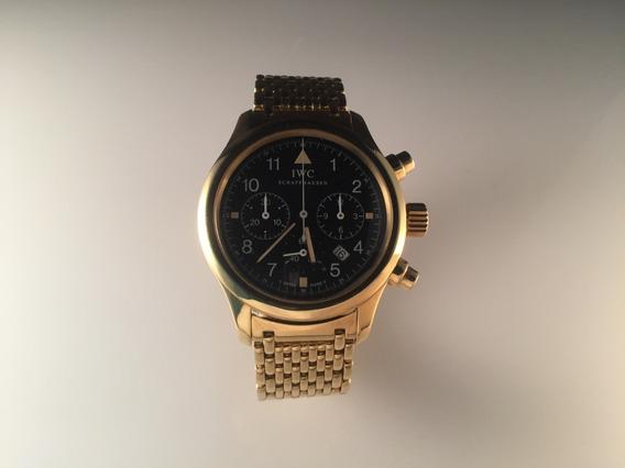 Iwc Pilot Fliegerchronograph De Oro Amarillo 18kt 148.3 Gr ,