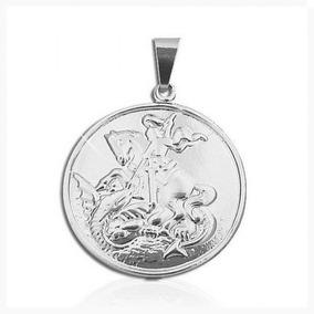 Medalha São Jorge Peça Folheada A Aço Inox