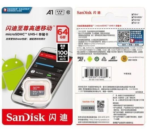 Cartão De Memória Sandisk Ultra 64gb