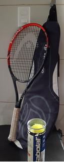 Raquete + Bolas Tenis Head Usado - Frete Grátis !!!!!!!!!!!!