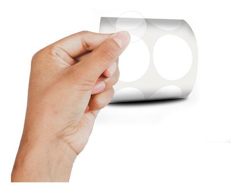 Etiqueta Redonda Bolinha Transparente 3cm  Milheiro
