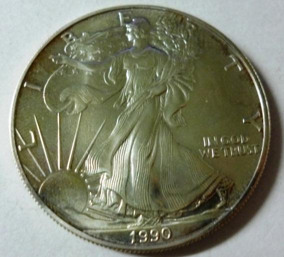 Usa 1 Dolar Eagle 1990 Plata Unc Km 273