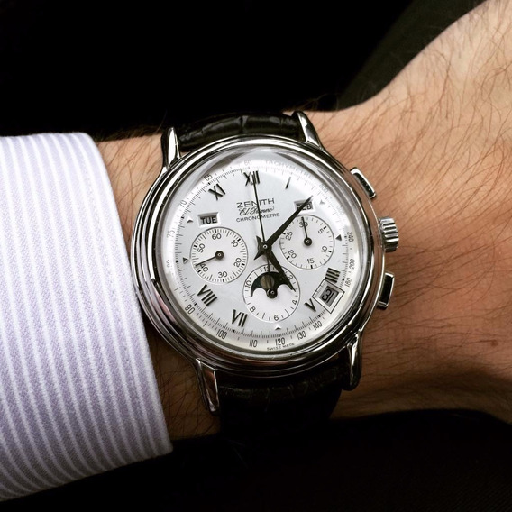 Reloj Cronógrafo Zenith Chronomaster Con Fases Lunares