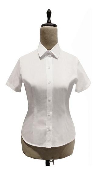 Camisa Manga Corta Entallada Para Dama (s-03)