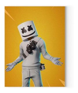 Cartel Marshmello Cuadro Fortnite Poster