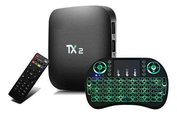 Conversor Smart Tv Web Tx2 2gb 16gb Bluetooch + Teclado Led