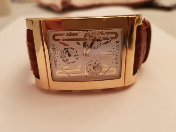 Bulgari Rettangolo Chronograph Ouro 18k