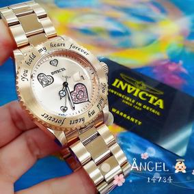 Relógio Invicta 14734 Lady Rose 18k Strass Feminino - Angel