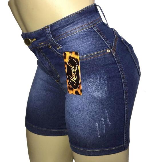 Kit 3 Shorts Feminino Cintura Alta Meia Coxa