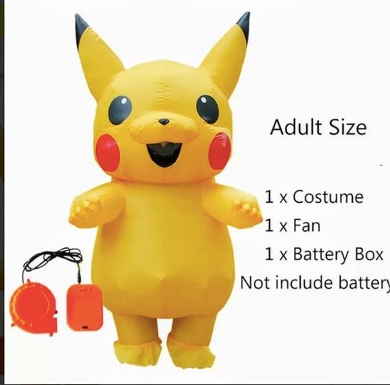 Disfraz De Picachu Pikachu Inflable Con Turbina Adulto 2020