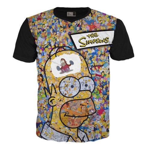 Camiseta Los Simpsons Homero Adulto Premium Exclusivas  Xl