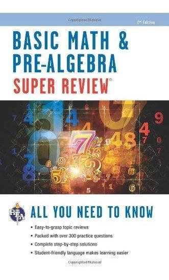 Libro Basic Math & Pre-algebra Super Review - Nuevo