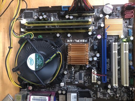Kit Semi-novo Processador Core 2 Quad 9400 + Placa Asus P5kpl-am + Cooler Original Intel