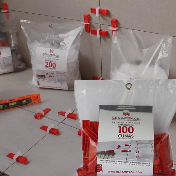 Kit Nivelador De Porcelanato Y Cerámica 100 Cuñas