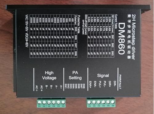 Driver Dm860 Para Motores Paso A Paso 2h Microstep.