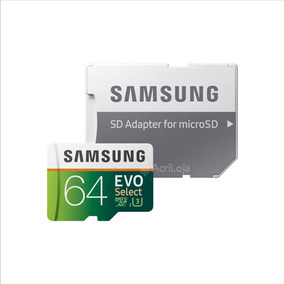 Cartao Micro Sd Samsung Evo 64gb Classe 10 U3 4k - Original