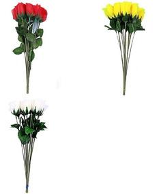 144 Botões De Rosas Flor Artificial