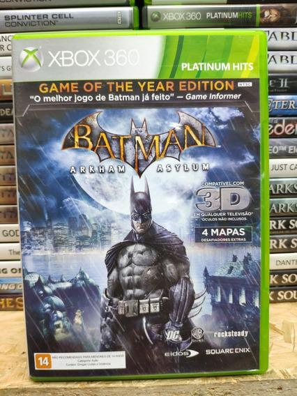 Jogo Batman Arkham Asylum Xbox 360, Mídia Física