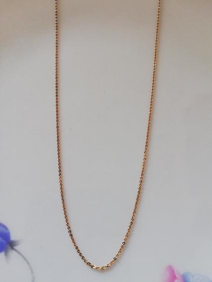 Cadena Oro 14k Rolo Italiana Ligera 50 Cms