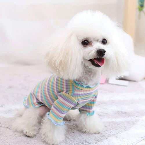 Roupa Para Cachorros Gato Pequenos Pet Leve Verão Malha