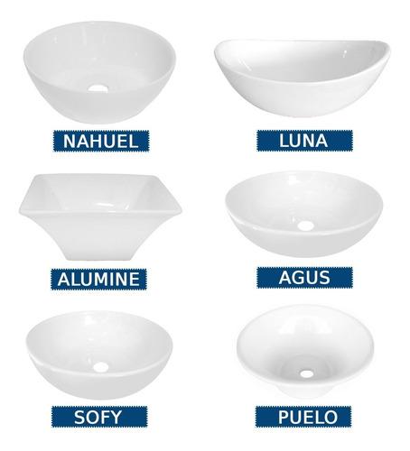 Bacha Loza Apoyo Vanitory Baño Porcelana Oferta Losa Blanca
