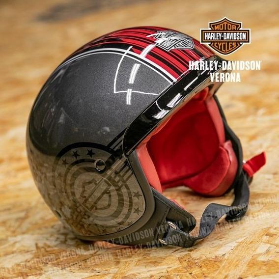 Capacete Harley Davidson Original Pilot Shark Raw Covert