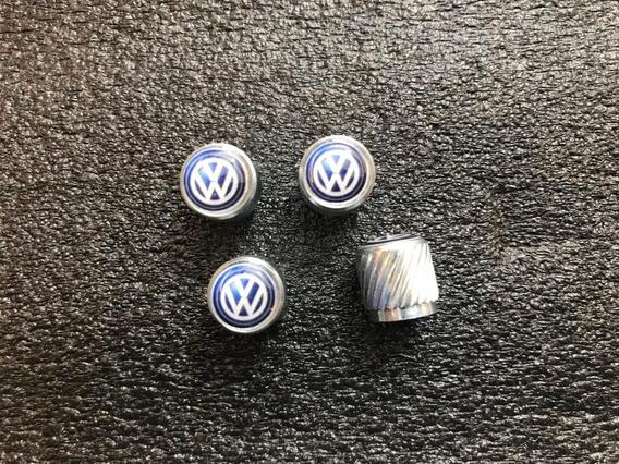 Tapon Pivote De Llanta Valvula Logo Vw Modelo Volkswagen