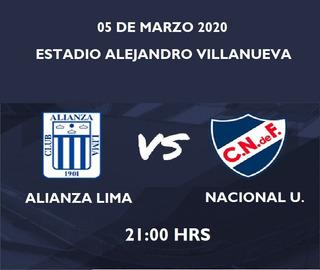 Alianza Lima Vs Nacional Uruguay/ Leer Descripcion!!!
