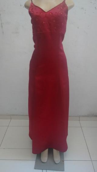 Vestido Festa Casamento Formatura Vermelho Alcinha